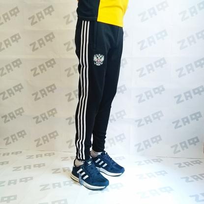 Мужские штаны Adidas RU, чёрные (реплика)