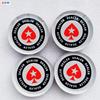 Кнопка дилера Red Poker Spade, прозрачный акрил, 80×20 мм