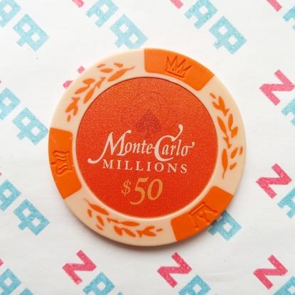 Фишки для покера Monte Carlo Millions, номинал 50, оранжевый, 14.5 г