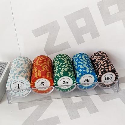 Покер набор 100 фишек MONTE CARLO Poker Club, пластиковые карты