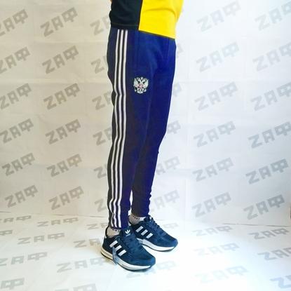 Мужские штаны Adidas RU, тёмно-синие (реплика)