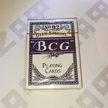 Изображение Карты игральные BCG, бумажные с пласт. покрытием, 54 карты, синяя рубашка