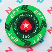 Керамические фишки EPT (PokerStars European Poker Tour), номинал 200