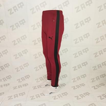 Мужские штаны PUMA EMBR SGN, бордовый/чёрный (реплика)