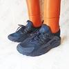 Мужские кроссовки NIKE Huarache Dark Blue, тёмно-синие