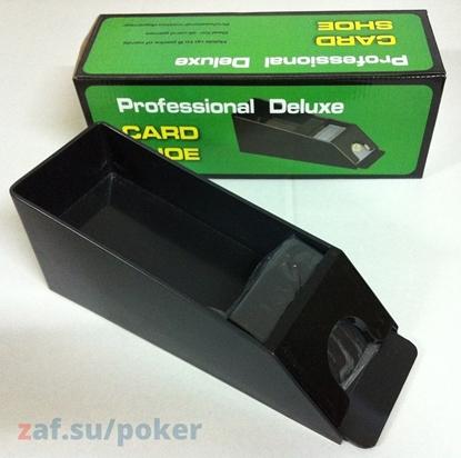 Каблук для выдачи карт на 1-4 колоды, чёрного цвета Cards Shoe Shoes