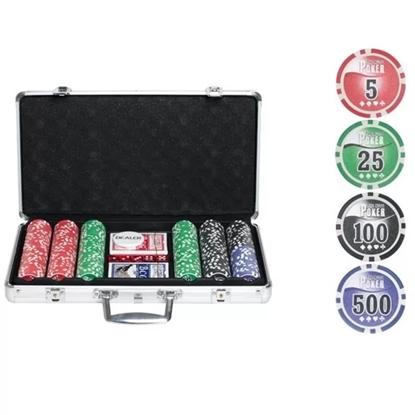Покерный набор NUTS, 300 фишек 11.5 грамм с номиналом в кейсе