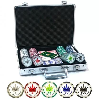 Покерный набор EMPIRE, 200 фишек 11.5 грамм с номиналом в кейсе