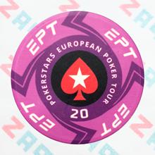 Керамические фишки EPT (PokerStars European Poker Tour), номинал 20