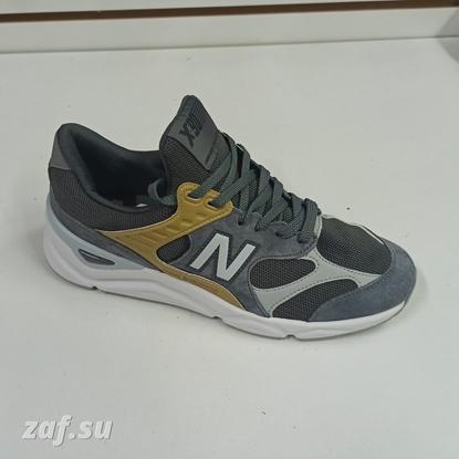 Мужские кроссовки NEW BALANCE X-90 Grey & Gold & White, серый/золотой/белый