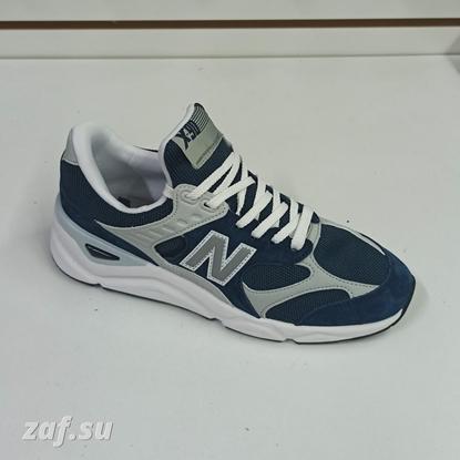 Мужские кроссовки NEW BALANCE X-90 Dark Blue & Grey & White, тёмно-синий/серый/белый