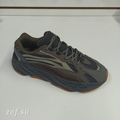 Мужские кроссовки ADIDAS Yeezy Boost Brown & Black, коричневый/чёрный
