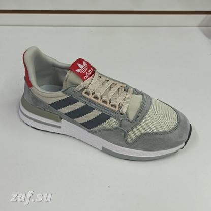 Мужские кроссовки Adidas ZX-500 RM Grey & Red & White, серый/красный/белый