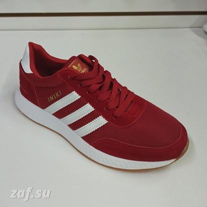 Мужские кроссовки Adidas INIKI Red & White, красный/белый