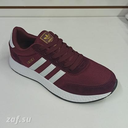 Мужские кроссовки Adidas INIKI Burgundy & White, бордовый/белый