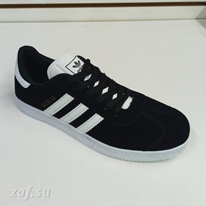 Мужские кроссовки Adidas GAZELLE 3S Black & White, чёрный/белый
