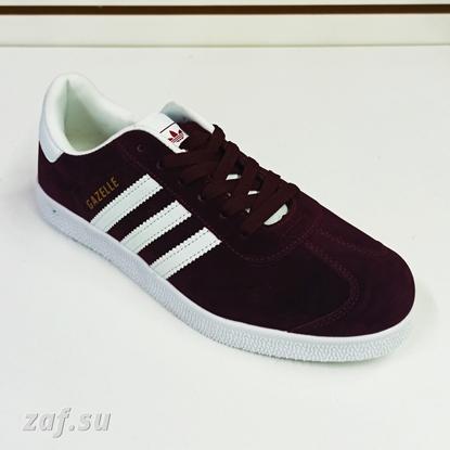 Мужские кроссовки Adidas GAZELLE 3S Burgundy & White, бордовый/белый
