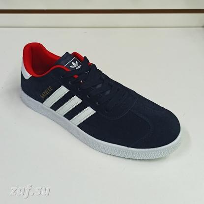 Мужские кроссовки Adidas GAZELLE 3S Dark-Blue & Red & White, тёмно-синий/красный/белый