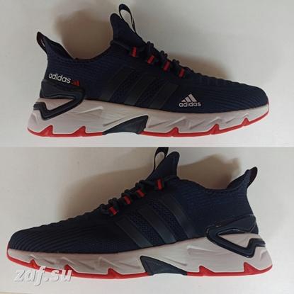 Мужские кроссовки ADIDAS Run FRNT-LBL Dark-Blue & Red & White, тёмно-синий/красный/белый