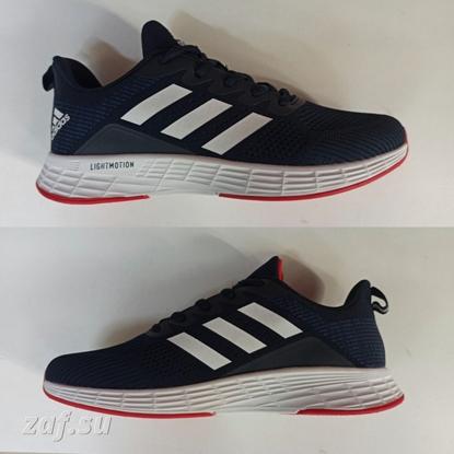 Мужские кроссовки Adidas LIGHTMOTION Run Dark-Blue & White & Red, тёмно-синий/белый/красный