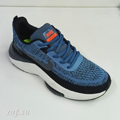 Мужские кроссовки NIKE Zoom Air Max Navy Blue & Black & Orange, тёмно-синий/чёрный/оранжевый
