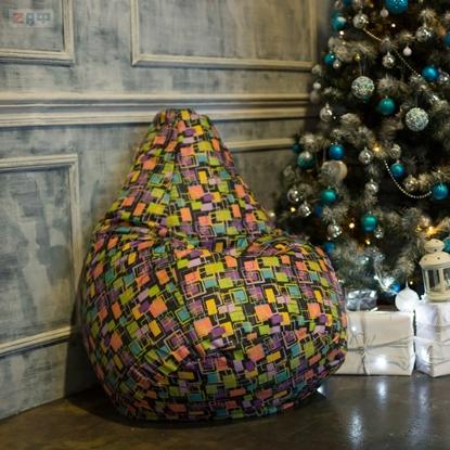 Picture of Кресло-мешок STANDARD Confetti, 130*95 см, конфетти