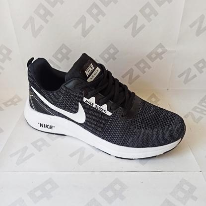"""Мужские кроссовки """"NIKE"""" Zoom Air Max Black & White, чёрный/белый"""