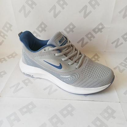 Мужские кроссовки NIKE Zoom X Grey & Sky Blue, серый/светло-синий