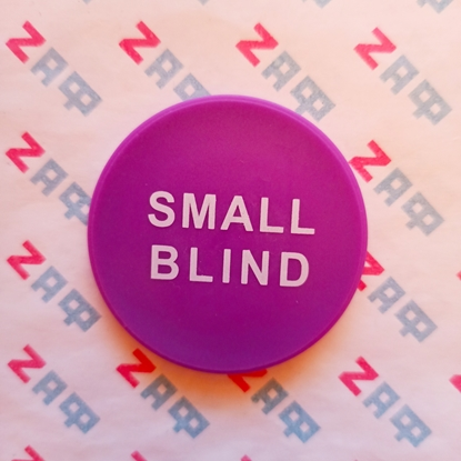 Кнопка SMALL BLIND пластиковая 50*5 мм, фиолетовая
