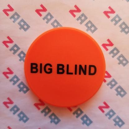 Кнопка BIG BLIND пластиковая 50*5 мм, оранжевая