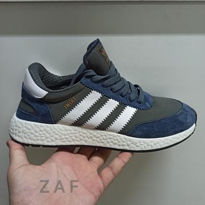 Мужские кроссовки ADIDAS Originals ZX 500 RM Grey & Blue & White, серый/синий/белый