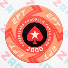 Керамические фишки EPT (PokerStars European Poker Tour), номинал 2000