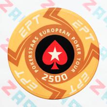 Керамические фишки EPT (PokerStars European Poker Tour), номинал 2500
