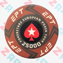 Керамические фишки EPT (PokerStars European Poker Tour), номинал 25000