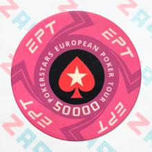 Керамические фишки EPT (PokerStars European Poker Tour), номинал 50000