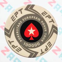 Керамические фишки EPT (PokerStars European Poker Tour), номинал 100000