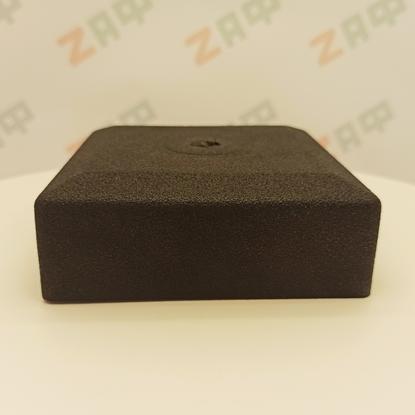 Заглушка наружная 100*100 мм РОМБ, пластик, чёрный