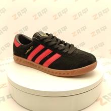 Изображение Мужские кроссовки ADIDAS Hamburg Black & Red, размер 41