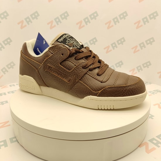 Мужские кроссовки REEBOK CLASSIC Brown & White, кожа