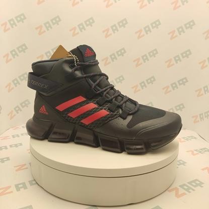 Зимние кроссовки Adidas Terrex GoReTex, тёмно-синий / красный
